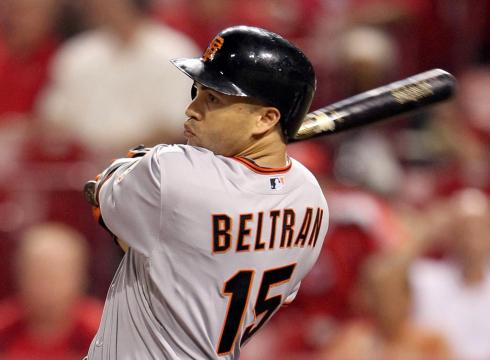 The Giants were left holding the bag when Carlos Beltran left as a free agent.